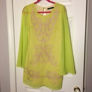 Ark&Co chartreuse cocktail dress